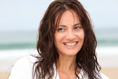 Happy woman on the beach — Stock Photo