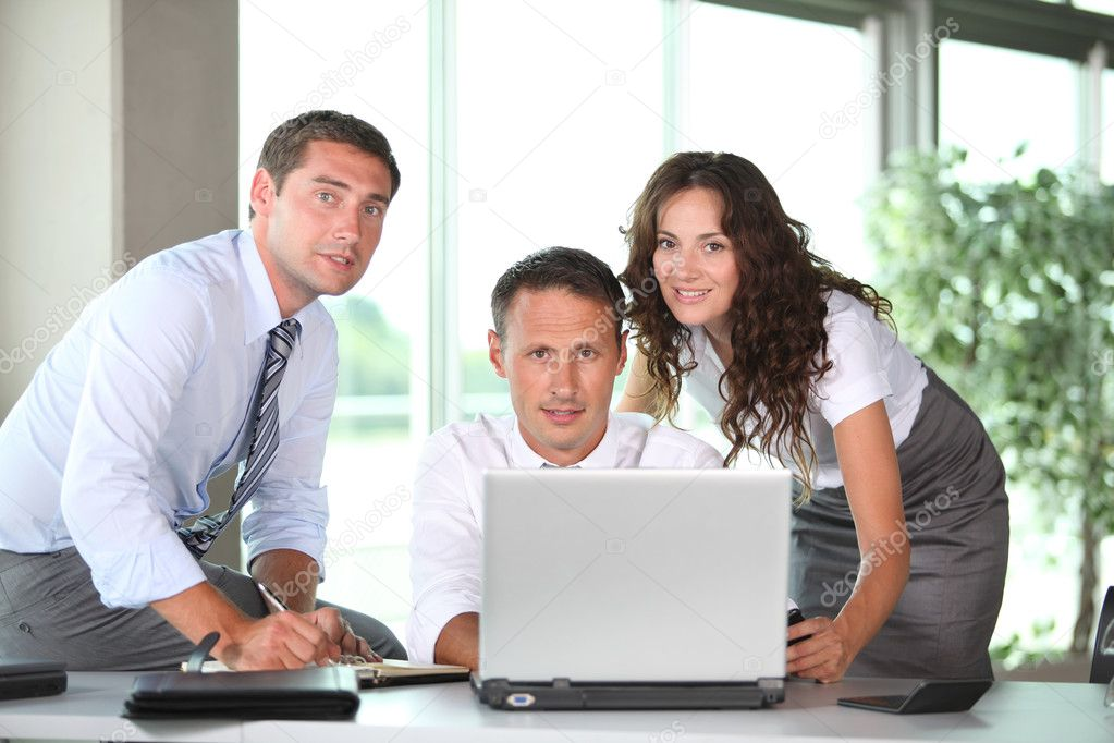 Business in a work meeting in the office — Stock Photo #6704718