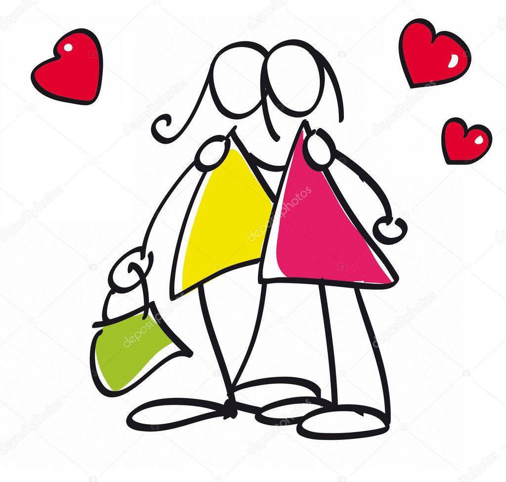 depositphotos 5655758 Funny lesbian couple thong teen model