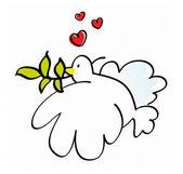 搞笑和平鸽子 — 图库照片