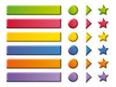 Funny color Buttons and arrows — Stock Photo