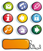 Funny web buttons — Stock Vector
