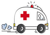 Funny ambulance — Stock Photo
