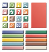 Color web icons — Stock Photo