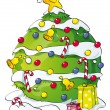 Funny Christmas tree — Foto de Stock