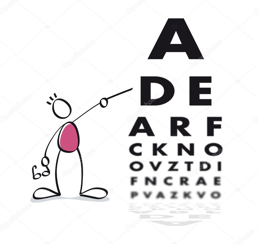 Eye doctor doing a vision test to the patient — Stock Photo #6705975
