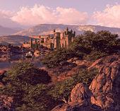 Spanish Castle Landscape — Stock Photo