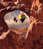 Southwest Hot Air Balloons — Stock Photo