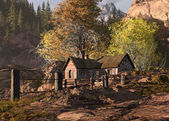 Mountain Cottage Landscape — Stock Photo