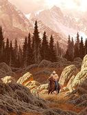 Rocky Mountain Rancher — Stock Photo
