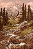 Stream In The Rocky Mountains — Stock Photo