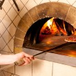 Chef machen eine Pizza base — Stockfoto