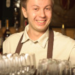 A barman at work — Stock Photo
