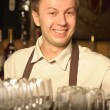 Stock Photo: A barman at work