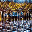 Stock Photo: Closeup of wineglasses