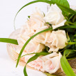 Wedding bouquet isolated over white — Photo