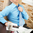 Young businessman with health problems — Foto Stock