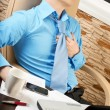 Young businessman with health problems — Stock Photo #5741634