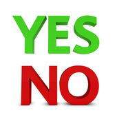 Yes/no sign — Stock Photo
