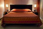 Bedroom in five-star hotel — Stock Photo
