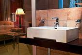 Hotel`s bathroom — Stock Photo