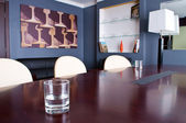 This is a photograph of a boardroom — Stock Photo