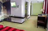 This is a photograph of a five star hotel room — Stock Photo