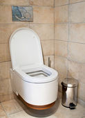 This is a closeup of a toilet — Stock Photo