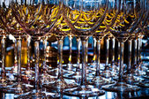 Closeup of a wineglasses — Foto Stock