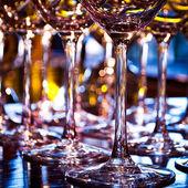 Closeup of a wineglasses — Stock Photo
