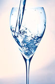 Glass with fresh water — Stock Photo