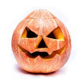 Haloween pumpkin isolated over white — Stock Photo