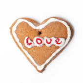 Christmas biscuit on white — Stock Photo