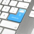 Set of four keyboard layouts for cloud computing - Stock Photo