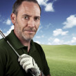 Portrait of a Golf Player - Stock Photo