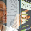 Futuristic computer Display - Stockfoto