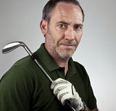 Portrait of a Golf Player — Stock Photo