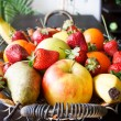 Fruits basket in living room — Stock Photo #5662232