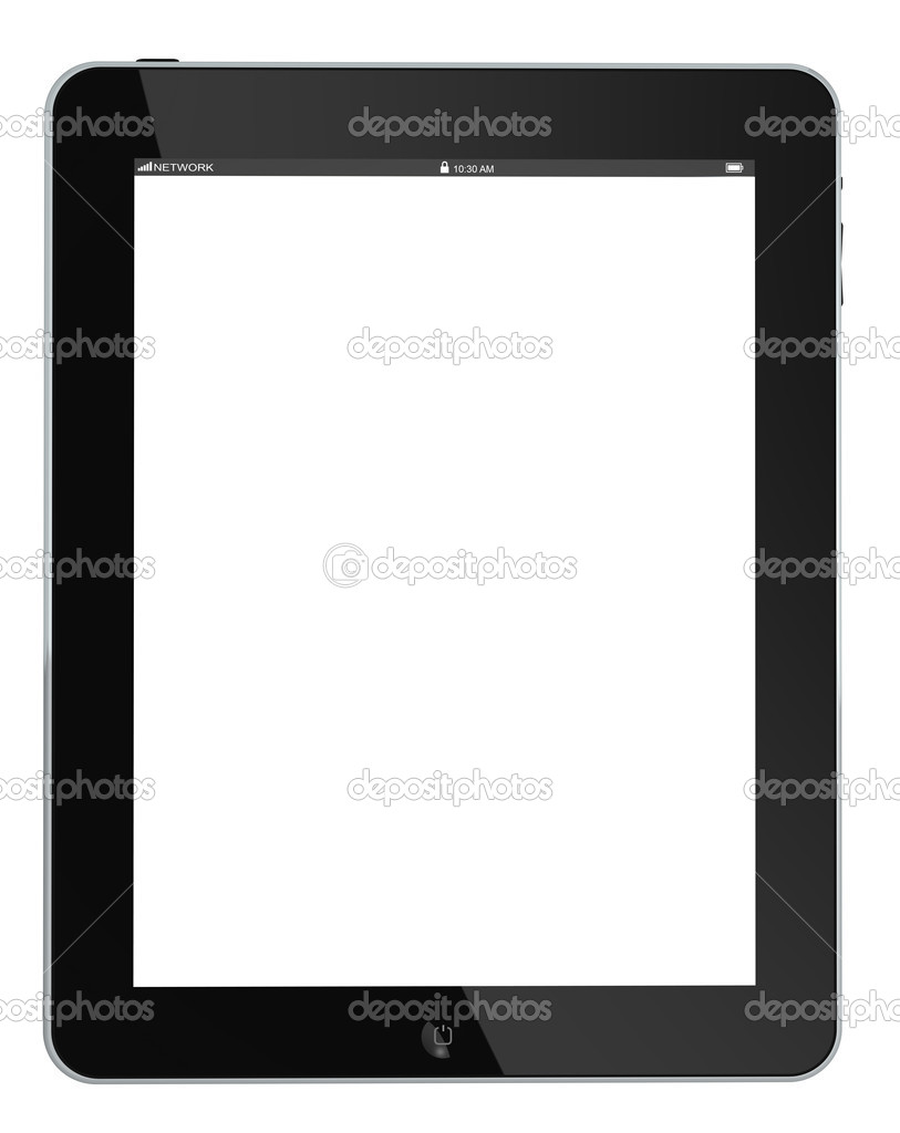 Tablet Touch PC Or Mobile Device, Isolated On White — Stock Photo #5662242