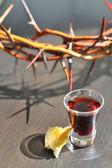 Taking Communion — Stock Photo
