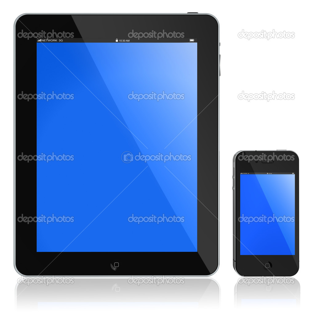 Tablet PC and modern phone. New Touchscreen phone and tablet — Stock Photo #6371997