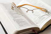 Studying Holy Bible — Stock Photo