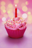 Happy Birthday Cupcake — Stock Photo