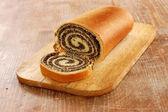 Still life of poppy bread loaf in kitchen — Zdjęcie stockowe