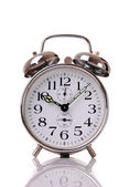Alarm clock on white — Stock Photo