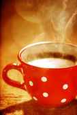 Wonderful cup of hot coffee — Stock Photo