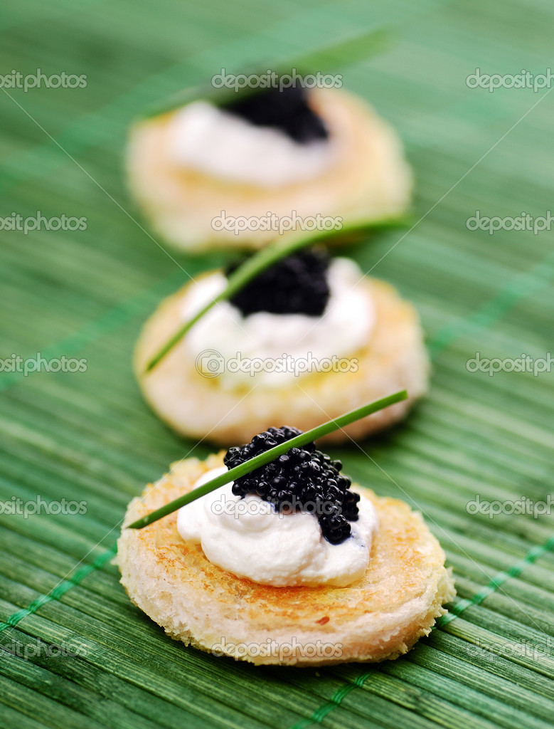 Appetizers with caviar  Stock Photo #5669826