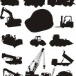 Construction and trucks - Stock Vector