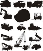 Construction and trucks — Stock Vector