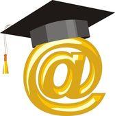 Internet Education — Stock Vector